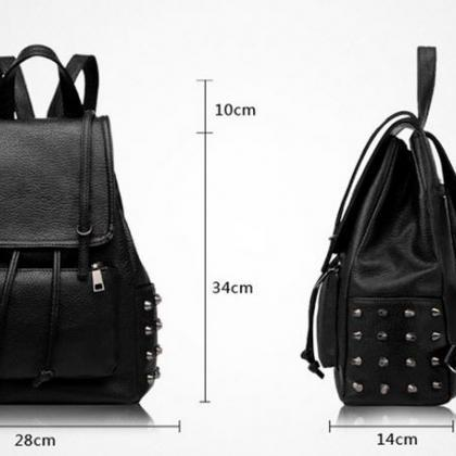 Multi purpose rivets studded backpa..